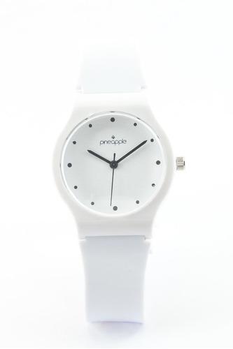 reloj de silicona pineapple mini blanco