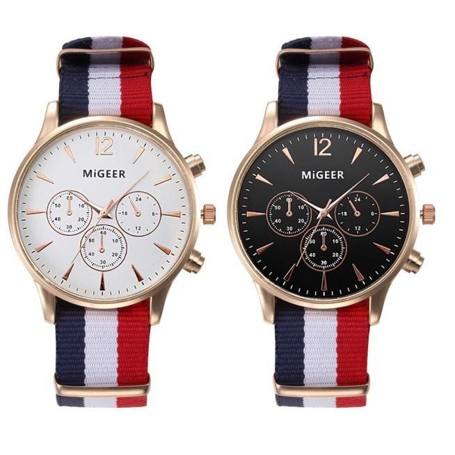 6df98820b Reloj De Vestir Migeer Casual Hombre Quarz Correa Tela - $ 99.00 en ...