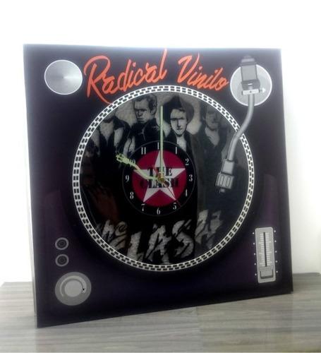reloj de vinilo retro the clash regalos