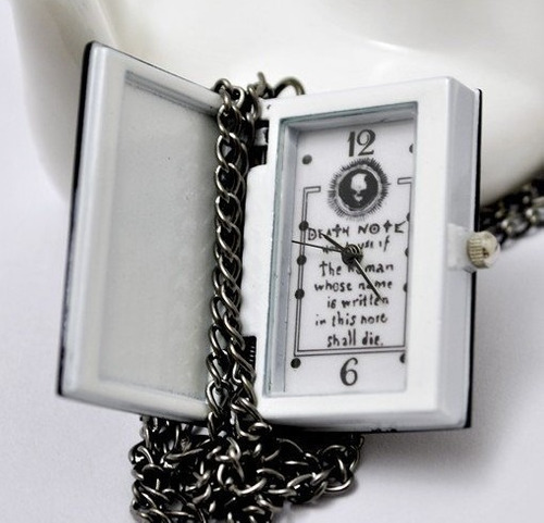 reloj death note steampunk reloj de bolsillo collar