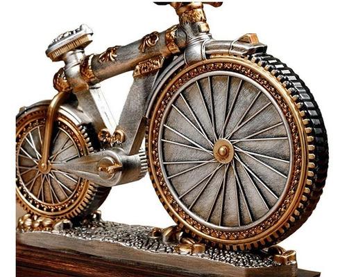 reloj decorativo diseño bicicleta con base para escritorio