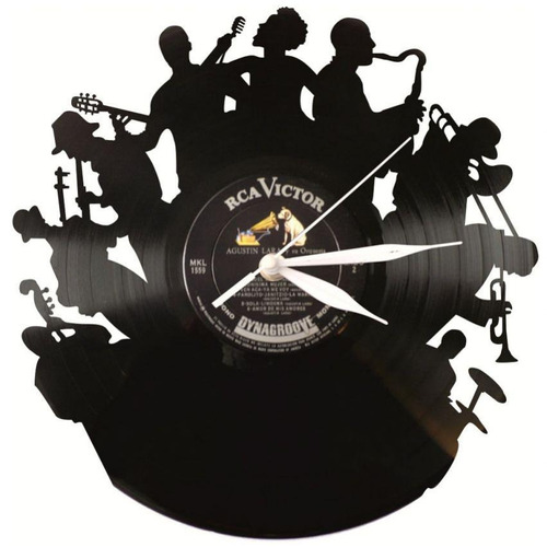 reloj decorativo jazz-negro