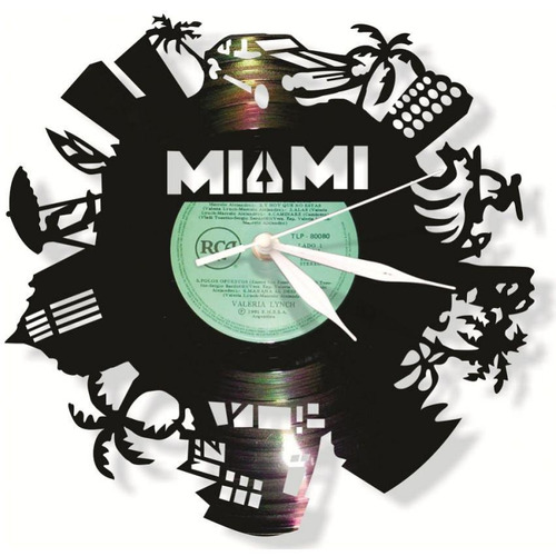 reloj decorativo miami-negro