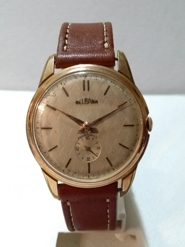 reloj delbana cuadrante texturado años 50/60con servive