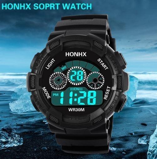 Reloj Deportivo Basico Honhx Sumergible 50 M.