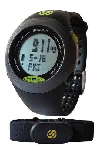 reloj deportivo con banda al pecho gps sole soleus