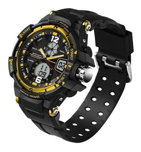 reloj deportivo digital cuarzo sanda 289 hombre color dorado