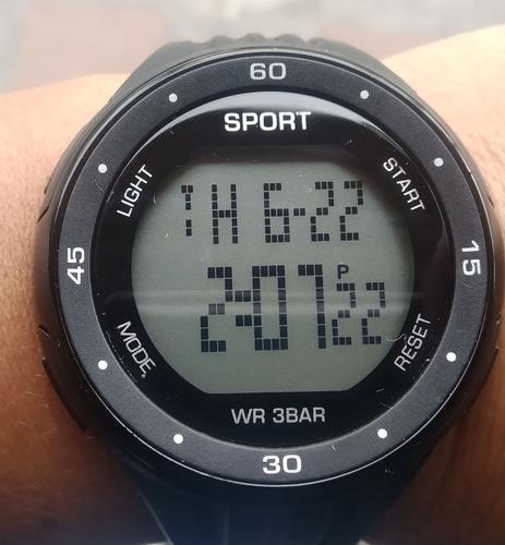 reloj deportivo digital iluminación led sumergible unisex