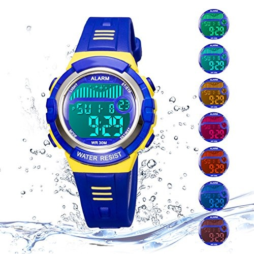 Deportivo Reloj Para Niños Digital Impermeable Al 0mw8Nn