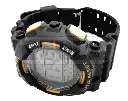 reloj deportivo h-sport resistente al agua luz cronómetro en