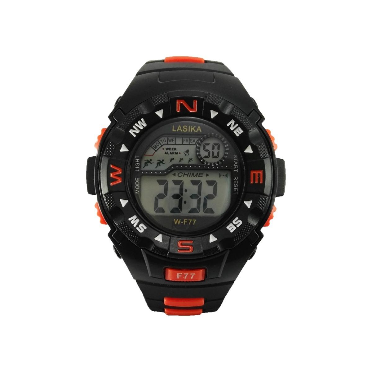 903fe2109a0f Reloj Deportivo Mujer Naranja Sumergible Cronometro Luz Gym -   350 ...