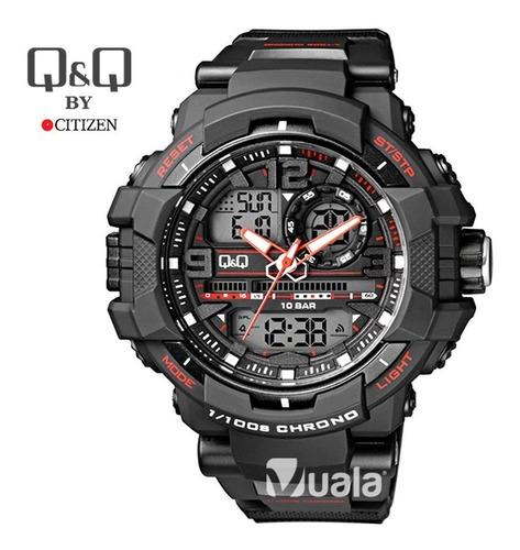 reloj deportivo negro hombre s shock q q by citizen acuático