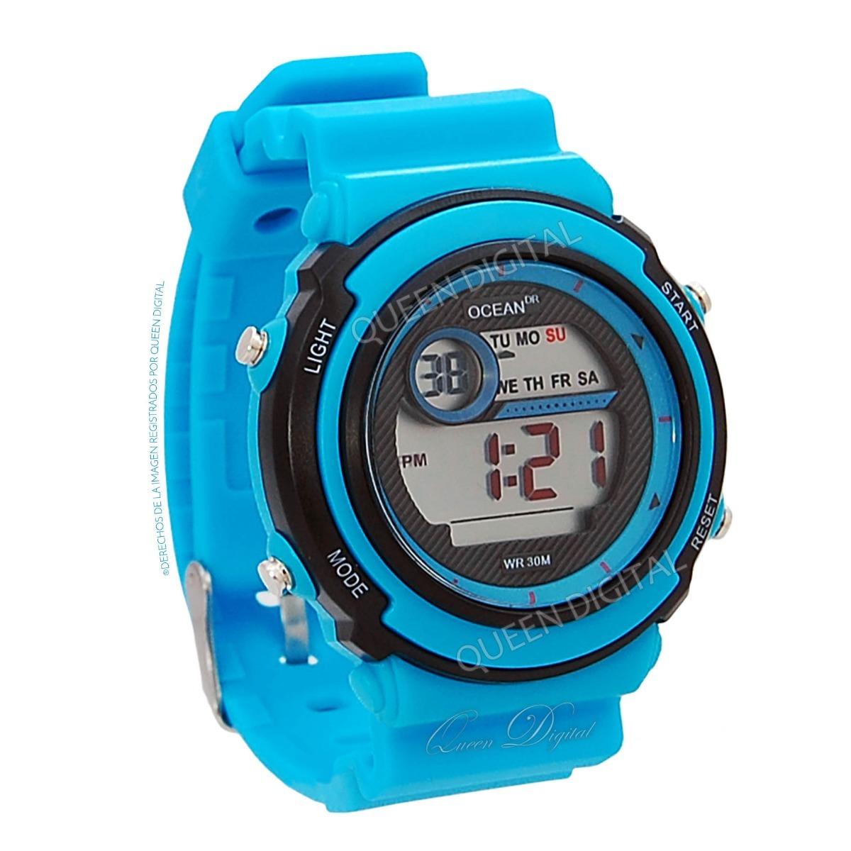 c9885b30f312 reloj deportivo niño niña sumergible 30m luz cronometro dama. Cargando zoom.