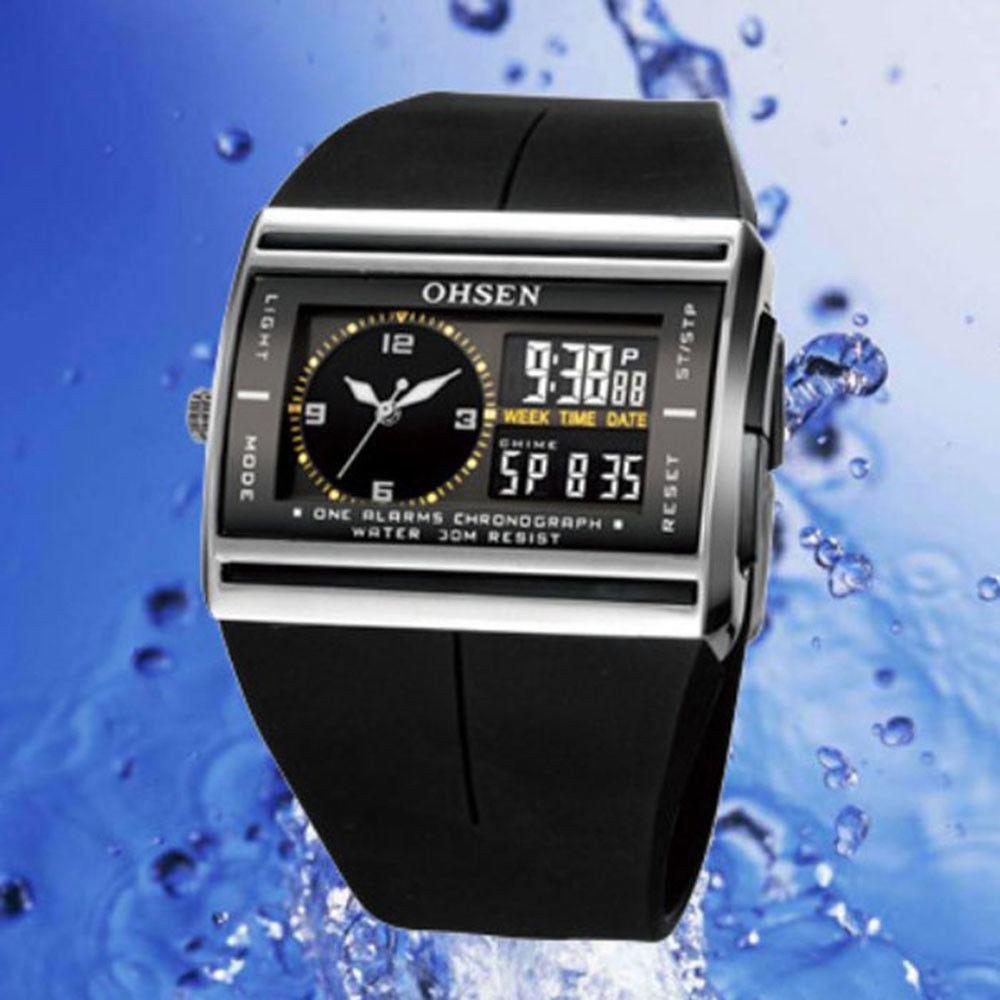 5073e62df27a reloj deportivo ohsen digital analogico luz hombe sumergible. Cargando zoom.