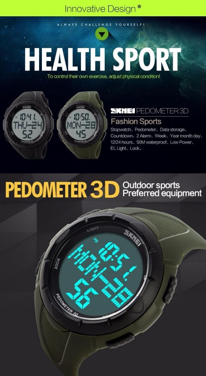 fe1fa288b0ad reloj deportivo pedometro skmei 1122 cuenta pasos km caloria. Cargando zoom.