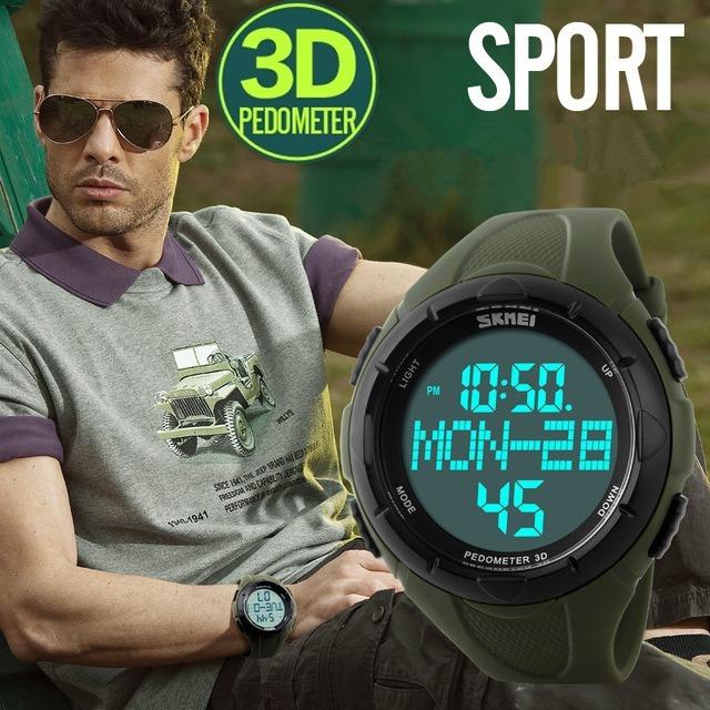 d343f21db1fd Reloj Deportivo Pedometro Skmei 1122 Cuenta Pasos Km Caloria -   999 ...