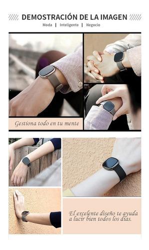 reloj deportivo, pulsera inteligente monitor fitness, negro