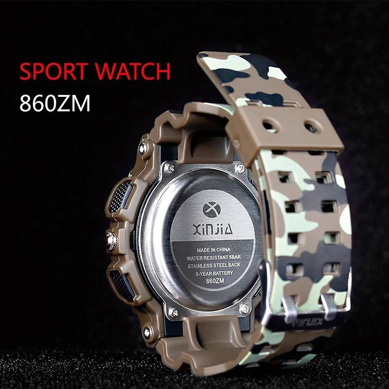 mejores zapatillas de deporte 648ae fab17 Reloj Deportivo S Shock Camuflado Militar Blanco Doble Hora