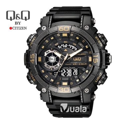 reloj deportivo s shock negro hombre doble hora q q citizen