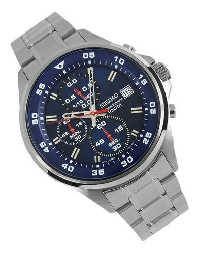 reloj deportivo seiko crono sumergible de acero sks625