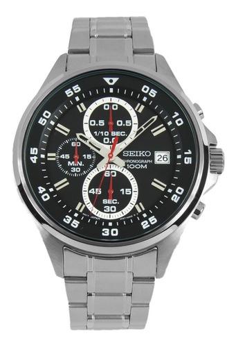 reloj deportivo seiko crono sumergible de acero sks627