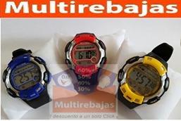 reloj deportivo sumergible 30 m con cronometro y alarma