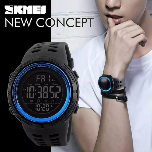 reloj deportivo sumergible con luz cronometro skmei 1251