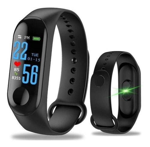 reloj deportivo unisex smart bracelet  cardiaco m3 ml0567