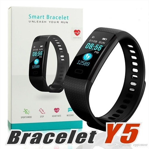 reloj deportivo y5 display color podómetro ritmo cardíaco