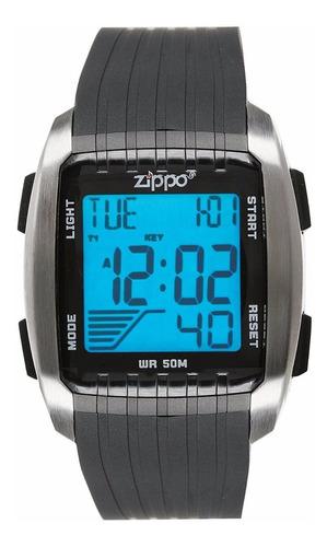 reloj deportivo zippo digital luz original caja y manual