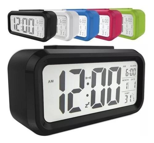 reloj despertador alarma snooze light con lcd iluminado