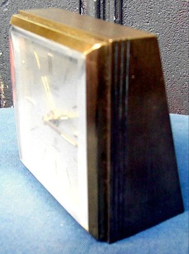 reloj despertador alemán europa de luxe 7 rubíes 8 ds bronce