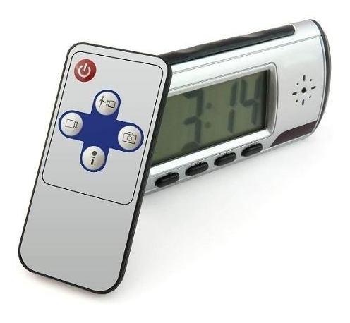 reloj despertador cámara espía oculta y sensor