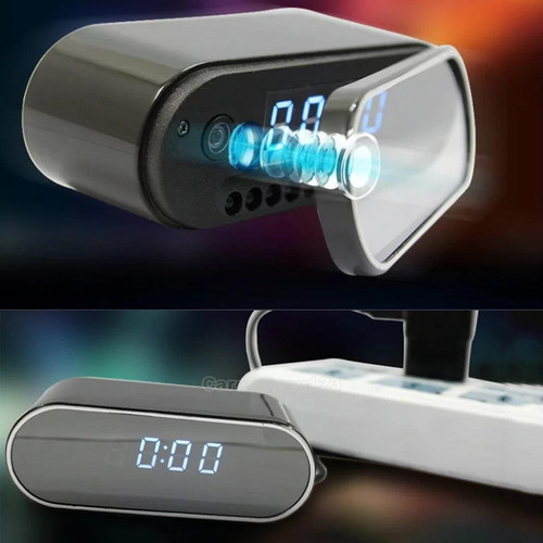 reloj despertador camara oculta espia / wifi / 1080p microfo