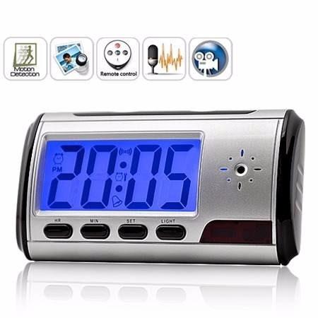 reloj despertador con camara espia