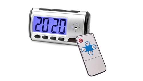 reloj despertador con cámara oculta grabadora dvr control re