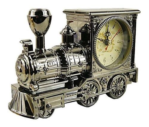 reloj despertador con forma de locomotora
