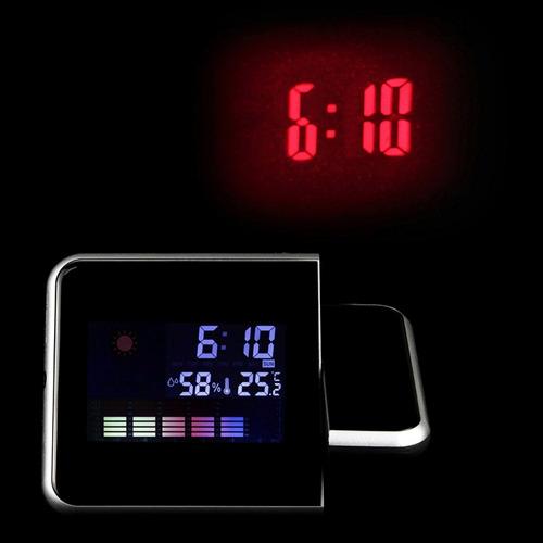 reloj despertador con proyector laser de la hora h9006