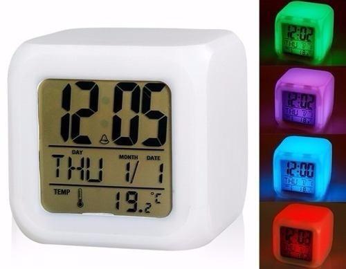 Cubo Luz De Alarma Despertador Digital Led Reloj Colores 0wPkXNn8O