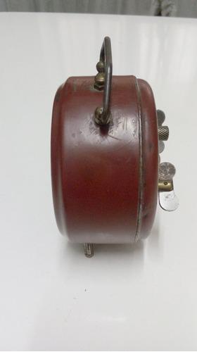 reloj despertador cuerda antiguo vintage retro antiguedades