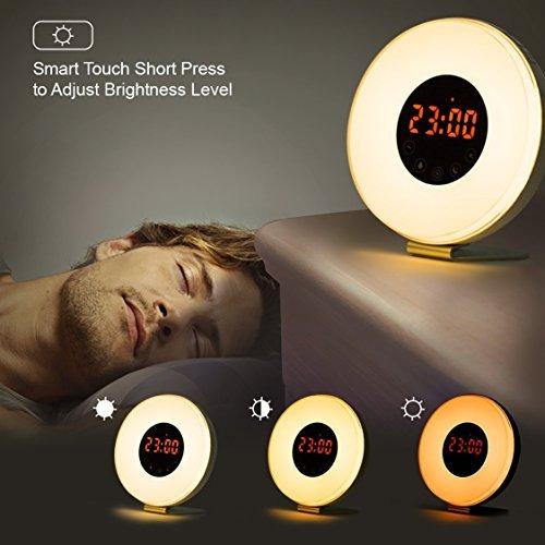 reloj despertador de la luz del sol, la mejor luz de despert