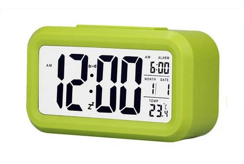 reloj despertador digital biggy pantalla grande sensor y luz