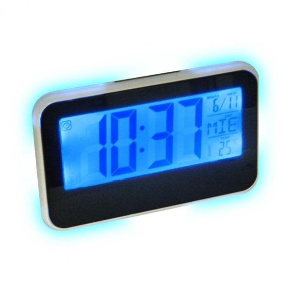 Reloj despertador digital con sensor de mesa en for Reloj digital de mesa