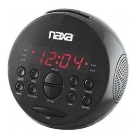 Reloj Despertador Digital Naxa Radio Am / Fm, Snooze Y Aux