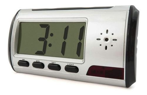 reloj despertador espia con sensor de movimiento audio video