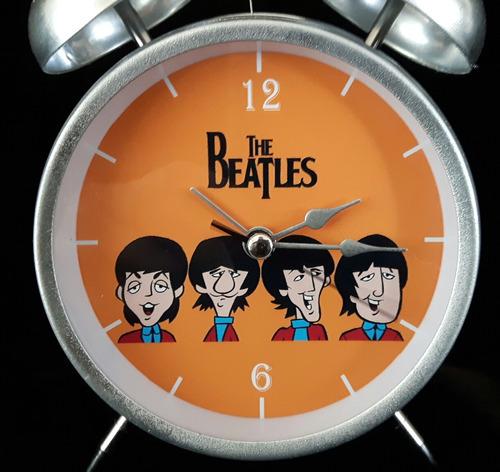 reloj despertador estilo vintage the beatles naranja