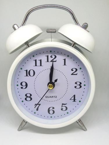 reloj despertador grande retro vintage campanilla colores