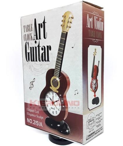 reloj despertador guitarra electrica rockero guitarrista
