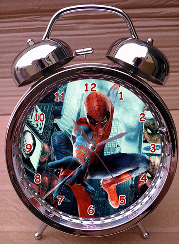 reloj despertador iron man - batman - spiderman - superman