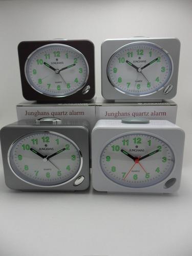 reloj despertador junghans quartz con sonido campanilla
